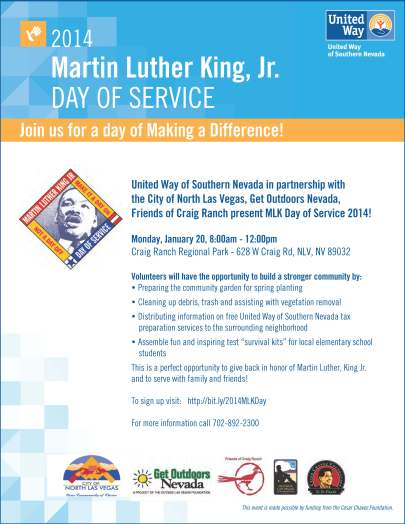 2014 MLK Day of ServiceFlyer